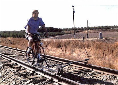 Michael Rhode on Patented Railbike